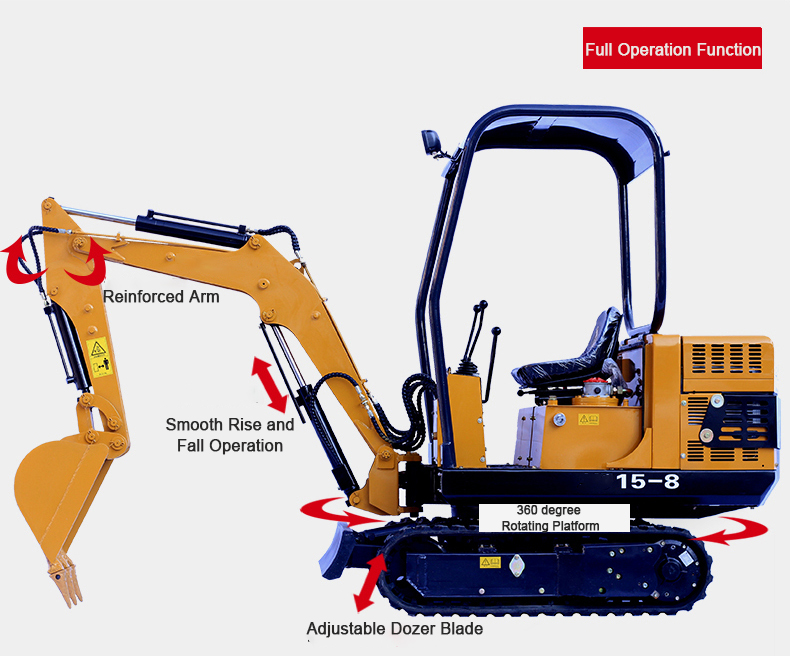 15-9G Mini crawler excavator